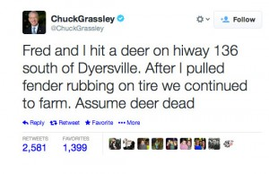 chuck grassley worst celebrity tweets deer