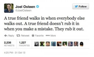 joel osteen worst celebrity tweets rub it in and out
