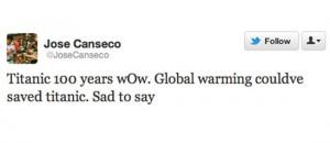 jose canseco titanic worst celebrity tweets