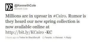 kenneth cole worst celebrity tweets