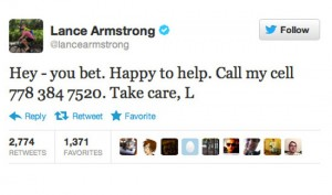 lance armstrong worst celebrity tweets