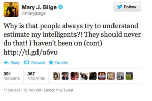 mary j blige worst celebrity tweets