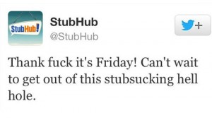 stubhub worst celebrity tweets