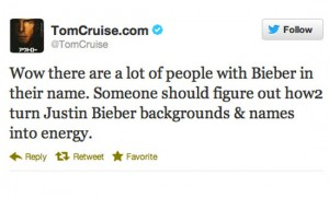 worst celebrity tweets tom cruise justin bieber