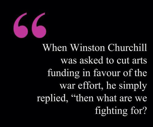 What Are We Fighting for Quote Winston Churchill Art